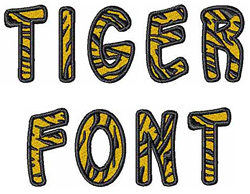 Free Tiger Embroidery Font