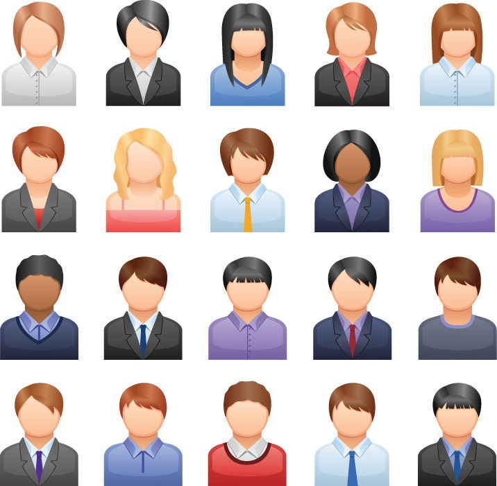 12 Generic People Icons Images