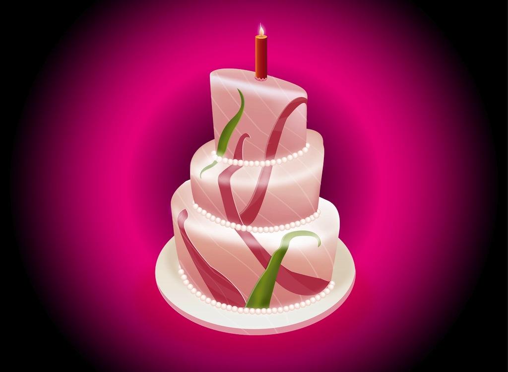 Free Vector Clip Art Birthday Cake