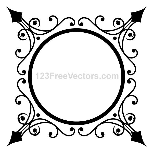 Free Vector Ornate Circle Frame Art