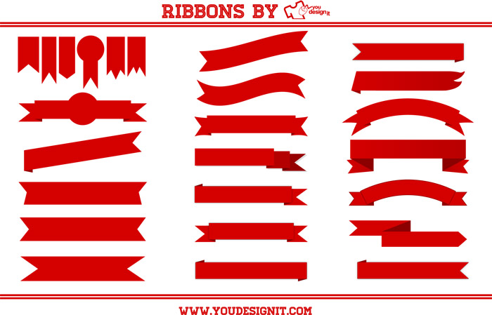 Free Vector Ribbons