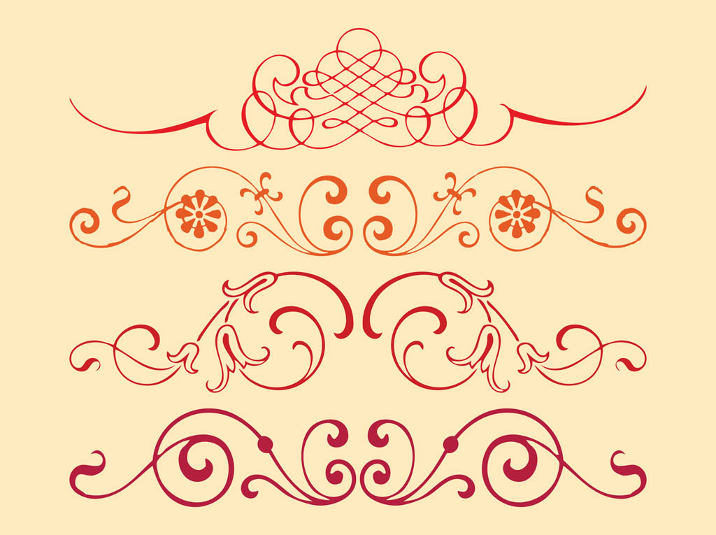 16 Swirl Line Vector Images - Encapsulated PostScript ...