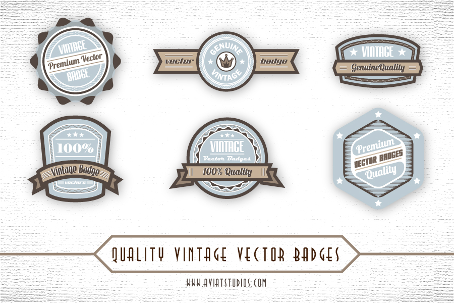 15 Logo Free Vector Retro Badges Images