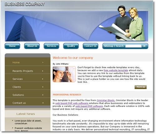 Free Web Page Templates