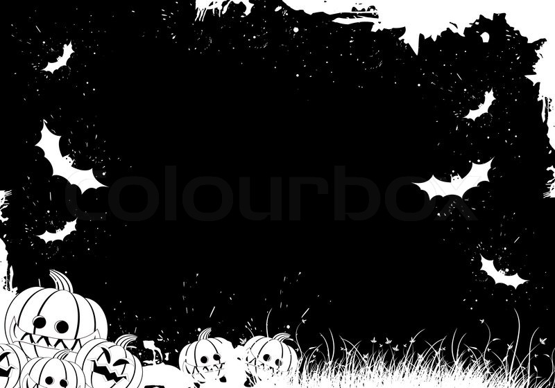 Halloween Border Black White