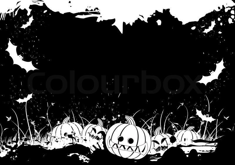 Halloween Grunge Vector Border