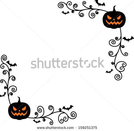 Halloween Pumpkin Page Borders