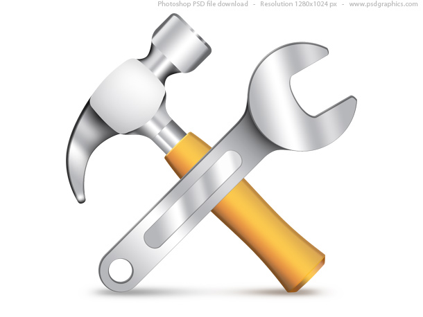9 Hammer And Wrench Icon Images