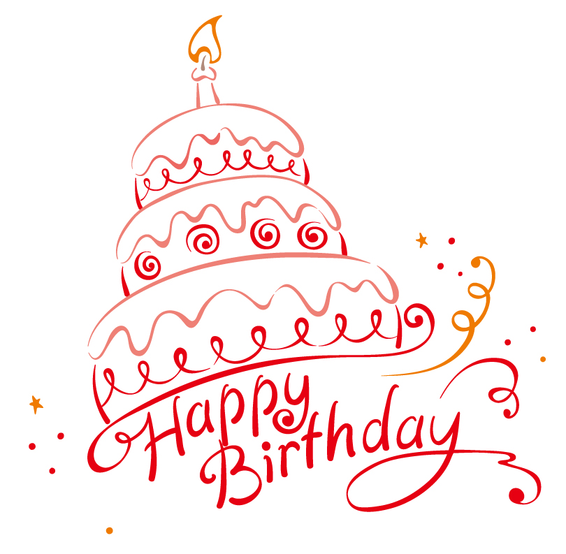 12 Free Vector Birthday Cake Images