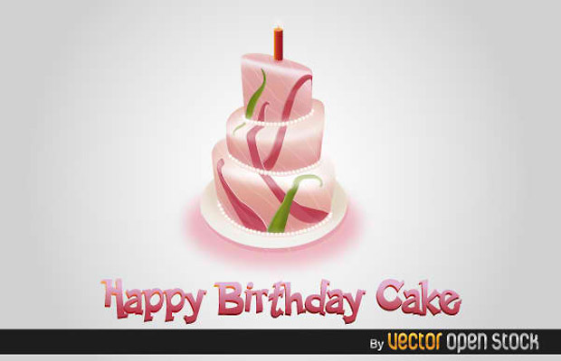 Happy Birthday Cake Vector