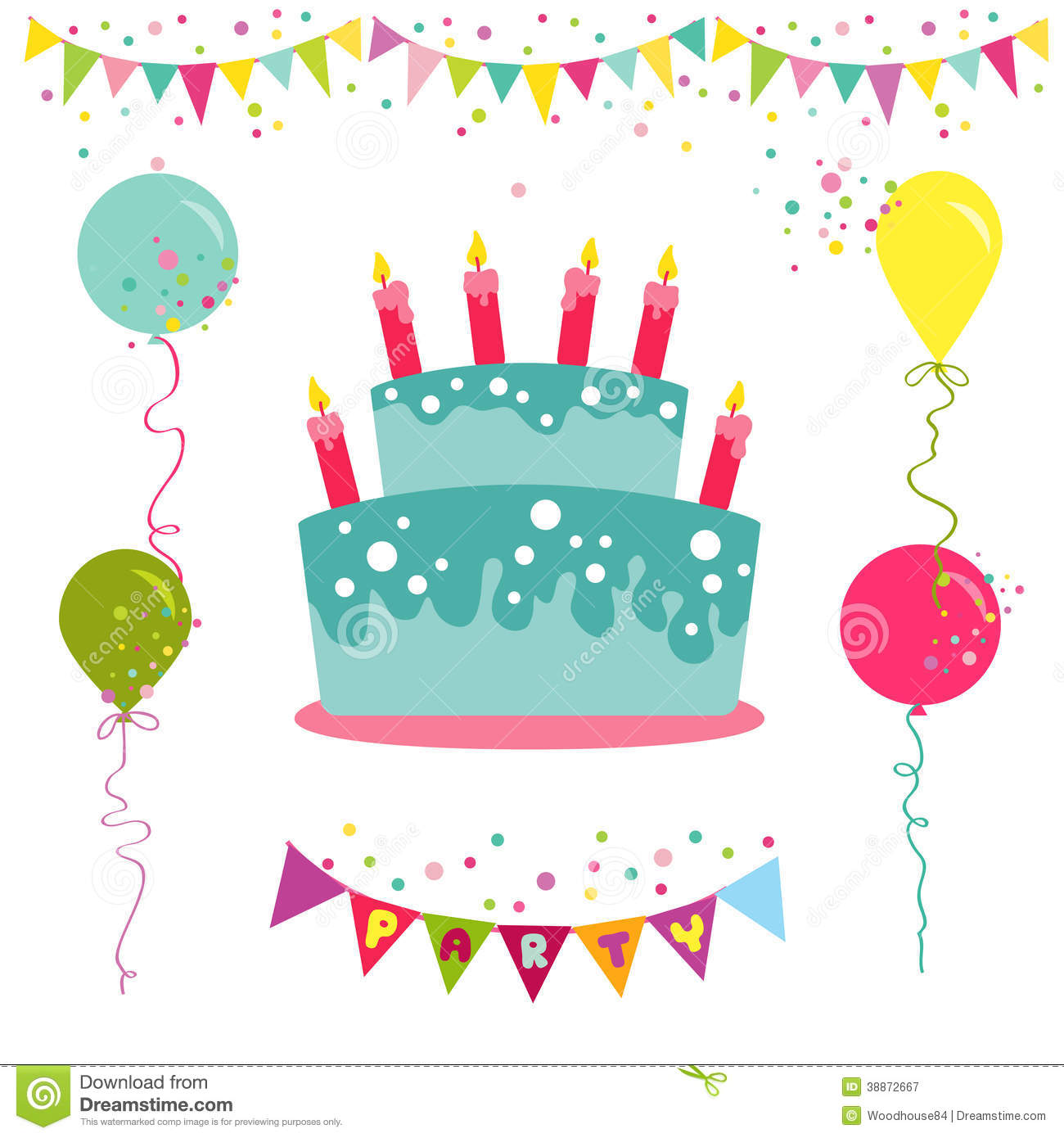 12 Birthday Invitation Vector Images