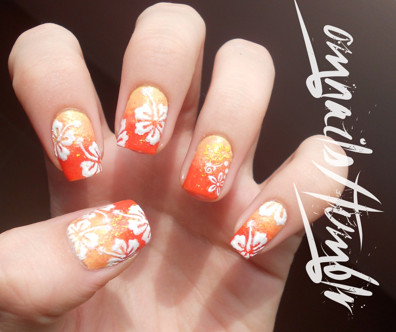 8 Hawaii Flower Nail Design Images