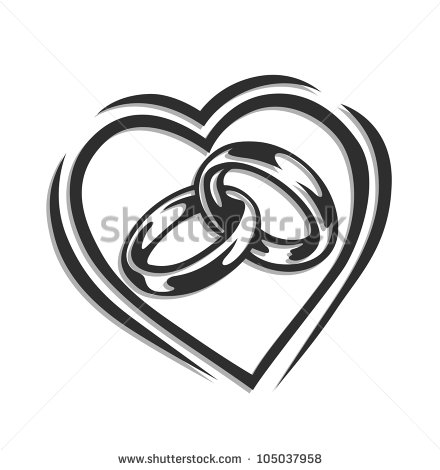 15 Vector Heart Wedding Ring Images