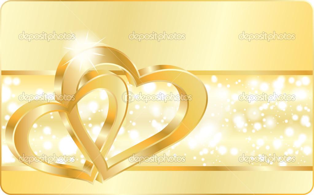Heart Wedding Ring Vector