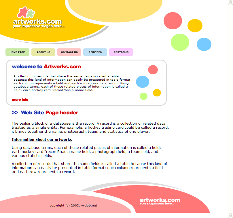 HTML Web Templates Free Download