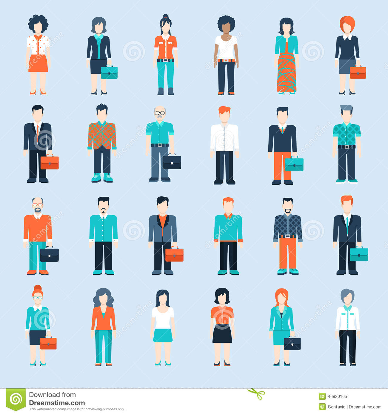 Infographic People Icons Business