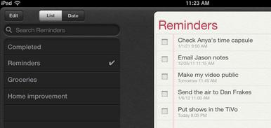iPad Reminders App