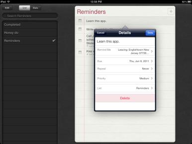 iPhone Reminders Icon