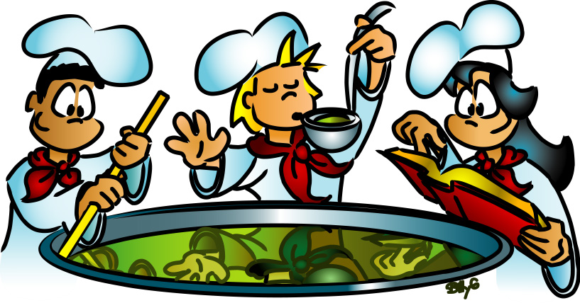 Kids in the Kitchen Cooking Clip Art Free