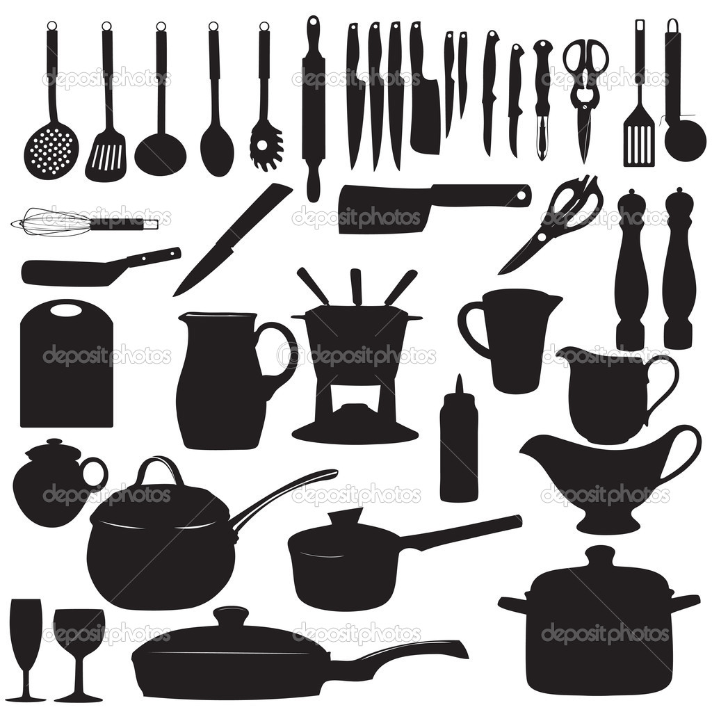 14 Kitchen Utensils Vector Clear Background Images