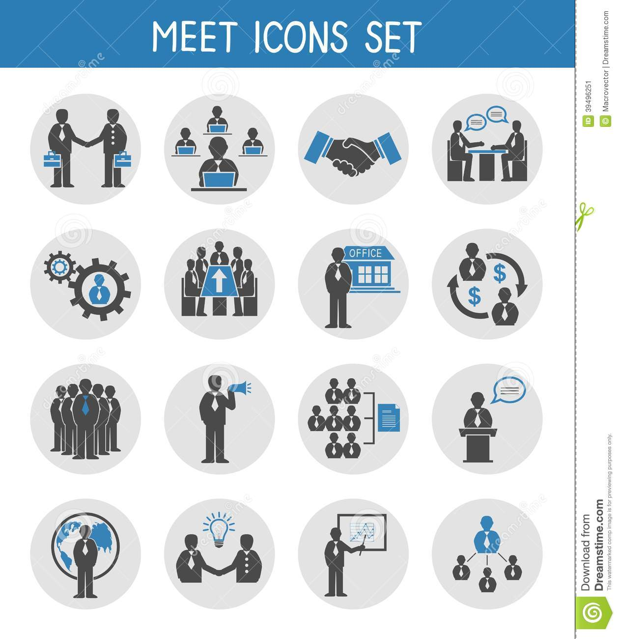 Meeting Business People Icons
