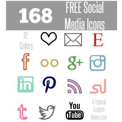 Minimalist Social Media Icons