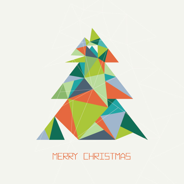 Modern Christmas Tree Graphic