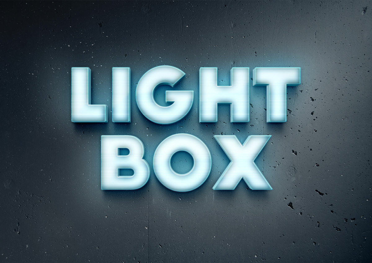15 Light Text Effects PSD Images