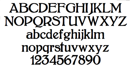 Old Fashioned Gothic Font