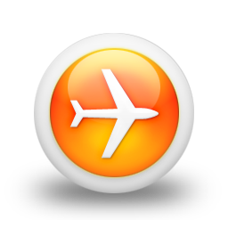 Orange Airplane Icon