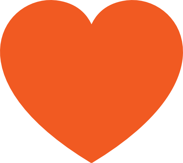 Orange Heart Clip Art