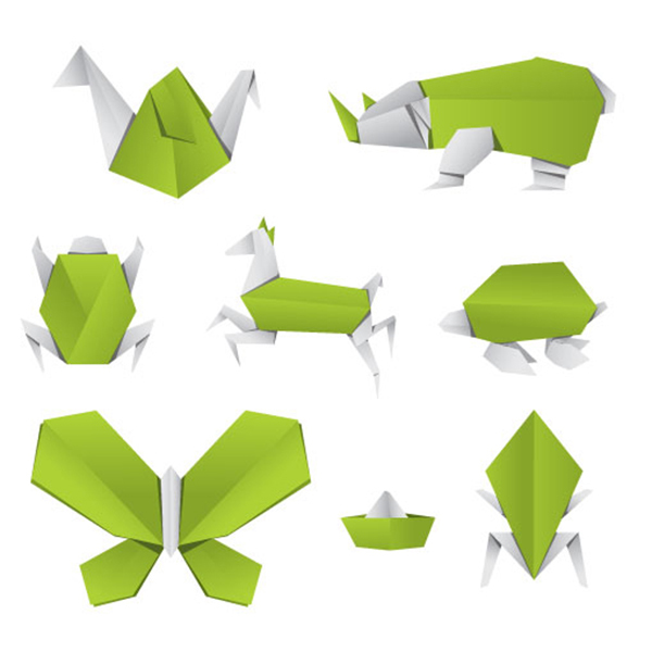 Origami Animals Vector