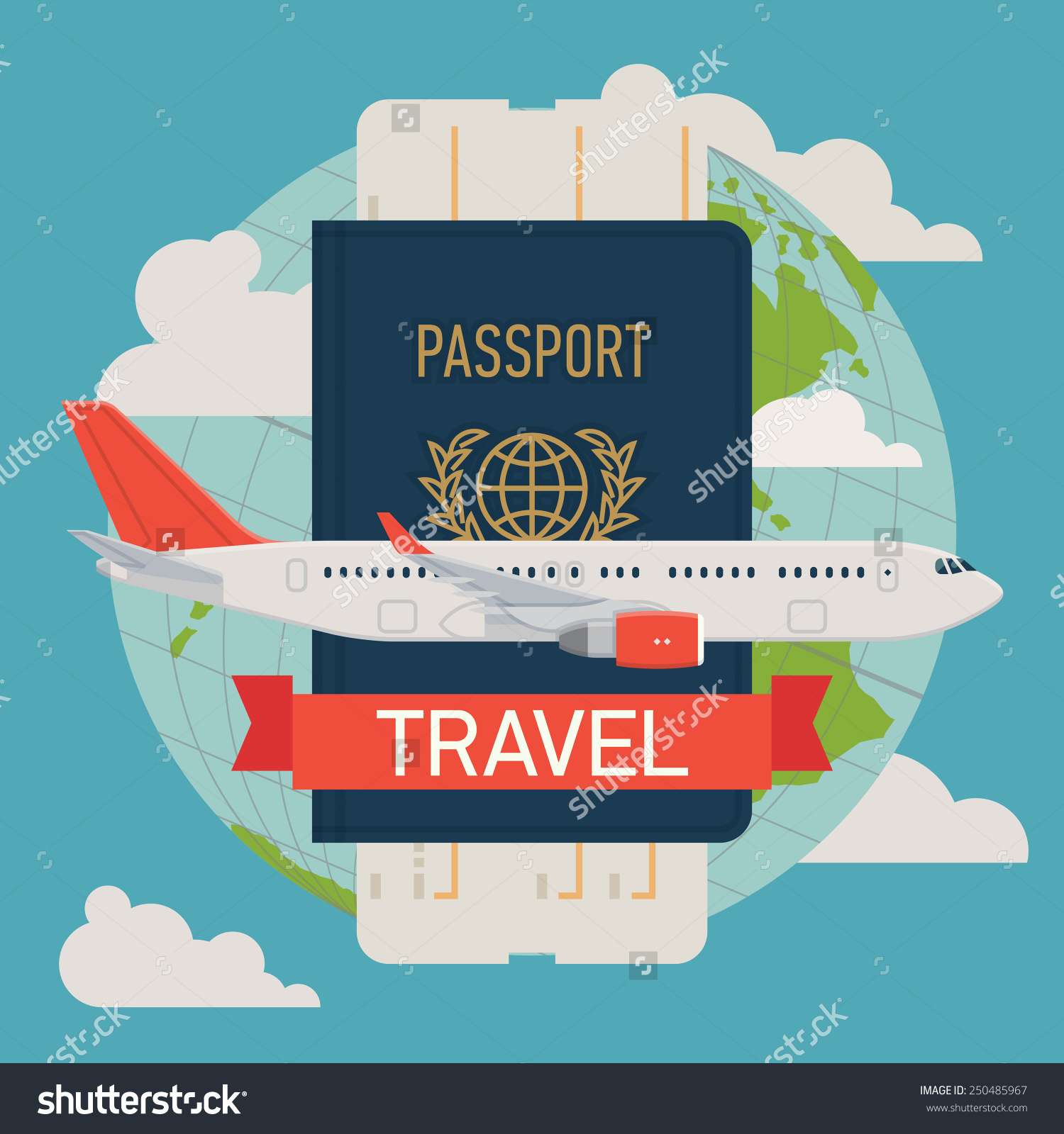Passport and Airline Ticket
