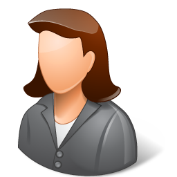 People Manager Female Icon