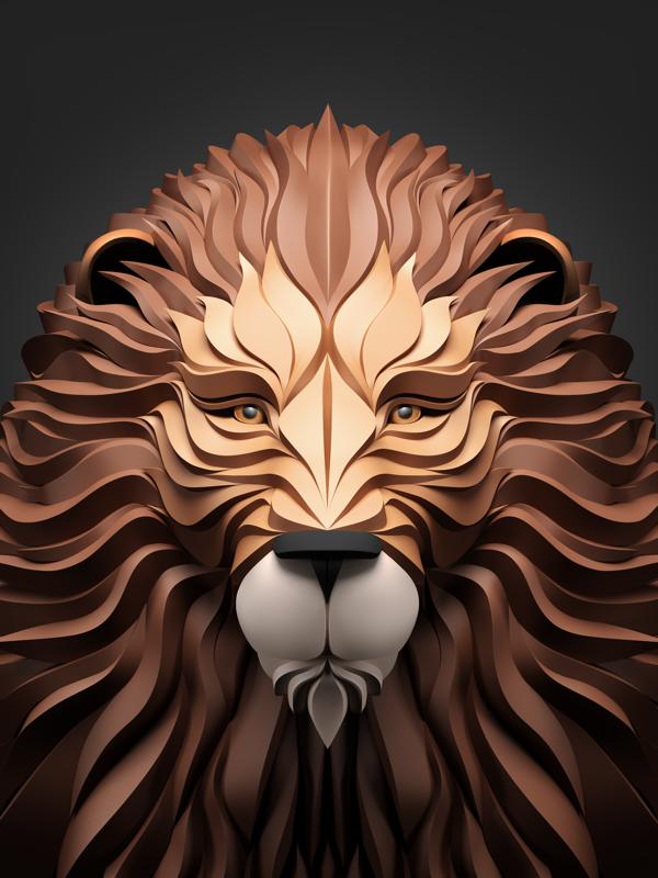 16 3D Wildlife Scenes Vector Art Images
