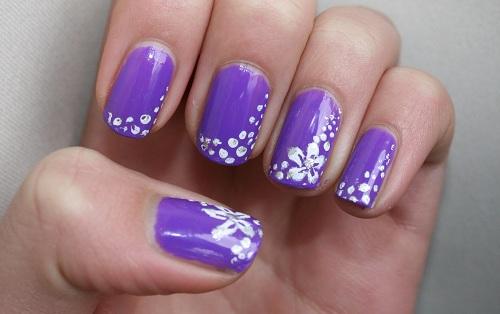 Nail art flowers purple robin moses nail art quot purple flower other image of nail art flowers purple prinsesfo Images