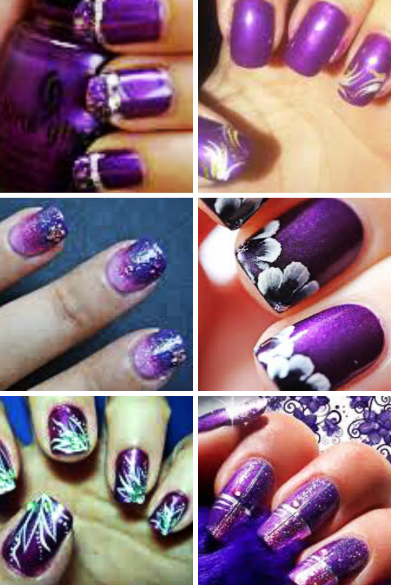 Nail Polish Designs Purple Splendid Wedding Company