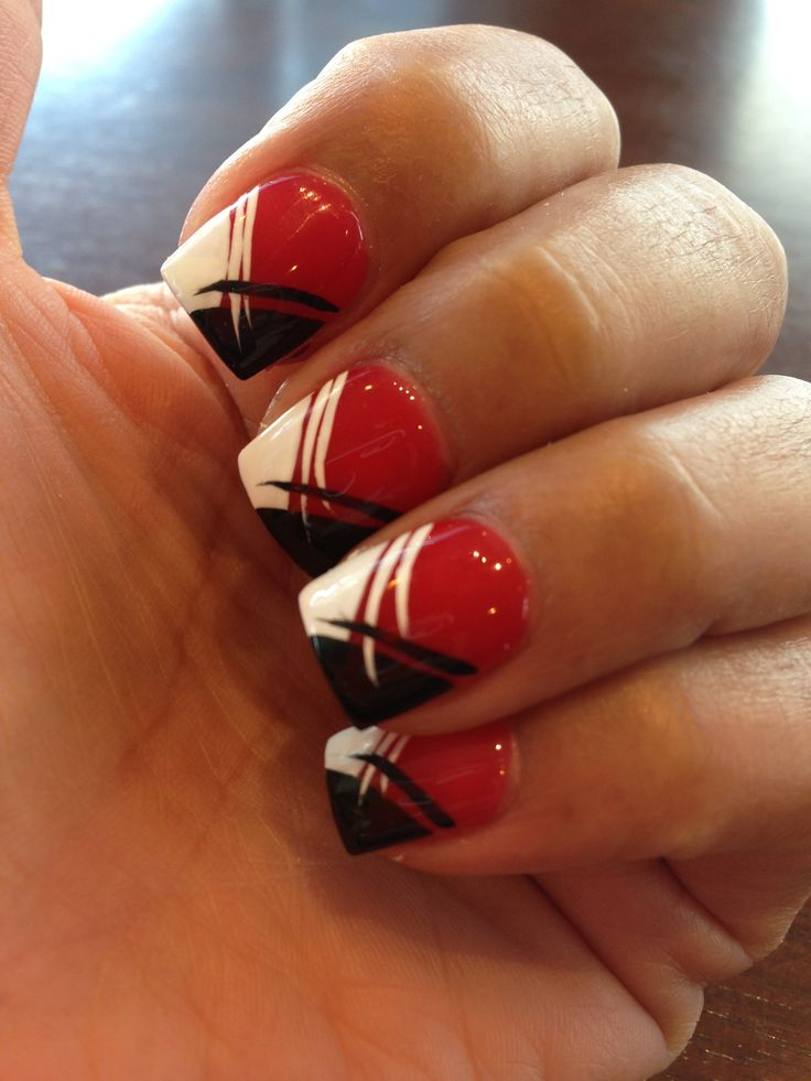 16 Red White And Black Nail Designs Images Red Black And Silver Nails Red White And Black Nail Art Designs And Red White And Black Nail Design Newdesignfile Com