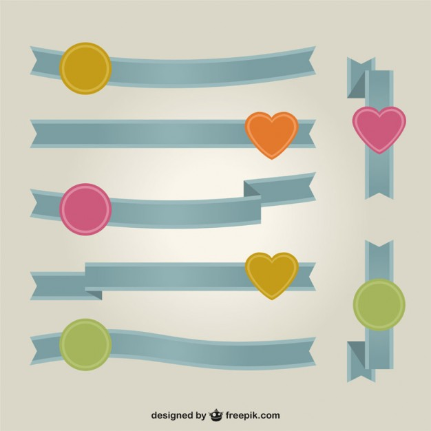 Ribbon Banner Vector Art Free