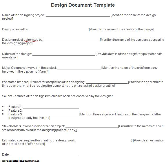 13 Design Document Template Doc Images
