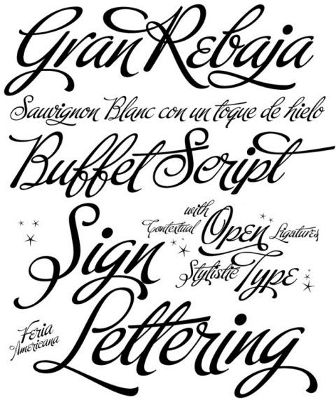 7 Buffet Script Font Images