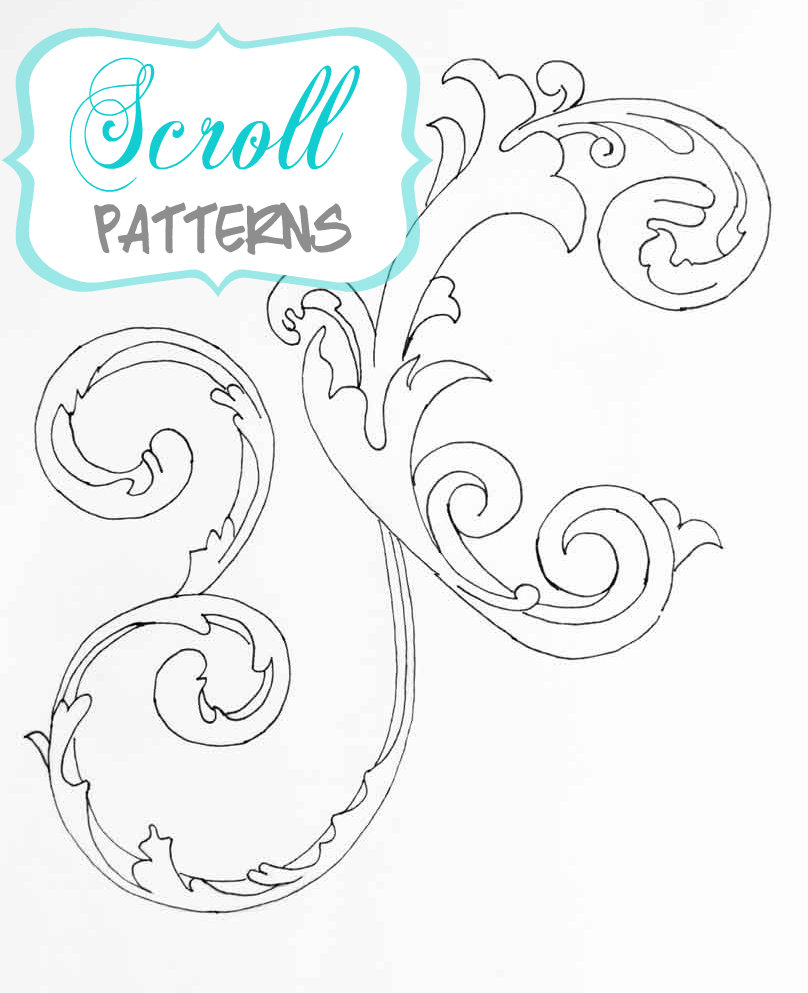 14 Free Printable Scroll Designs Images
