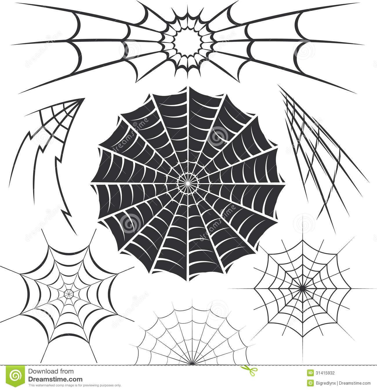 Spider Web Clip Art Designs