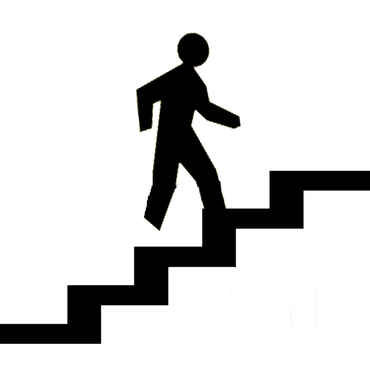 13 Step Icons Free Images - Stick Figure Climbing Stairs