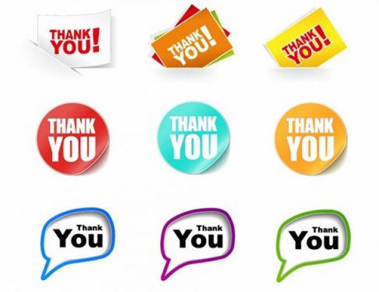 Thank You Stickers Free Download