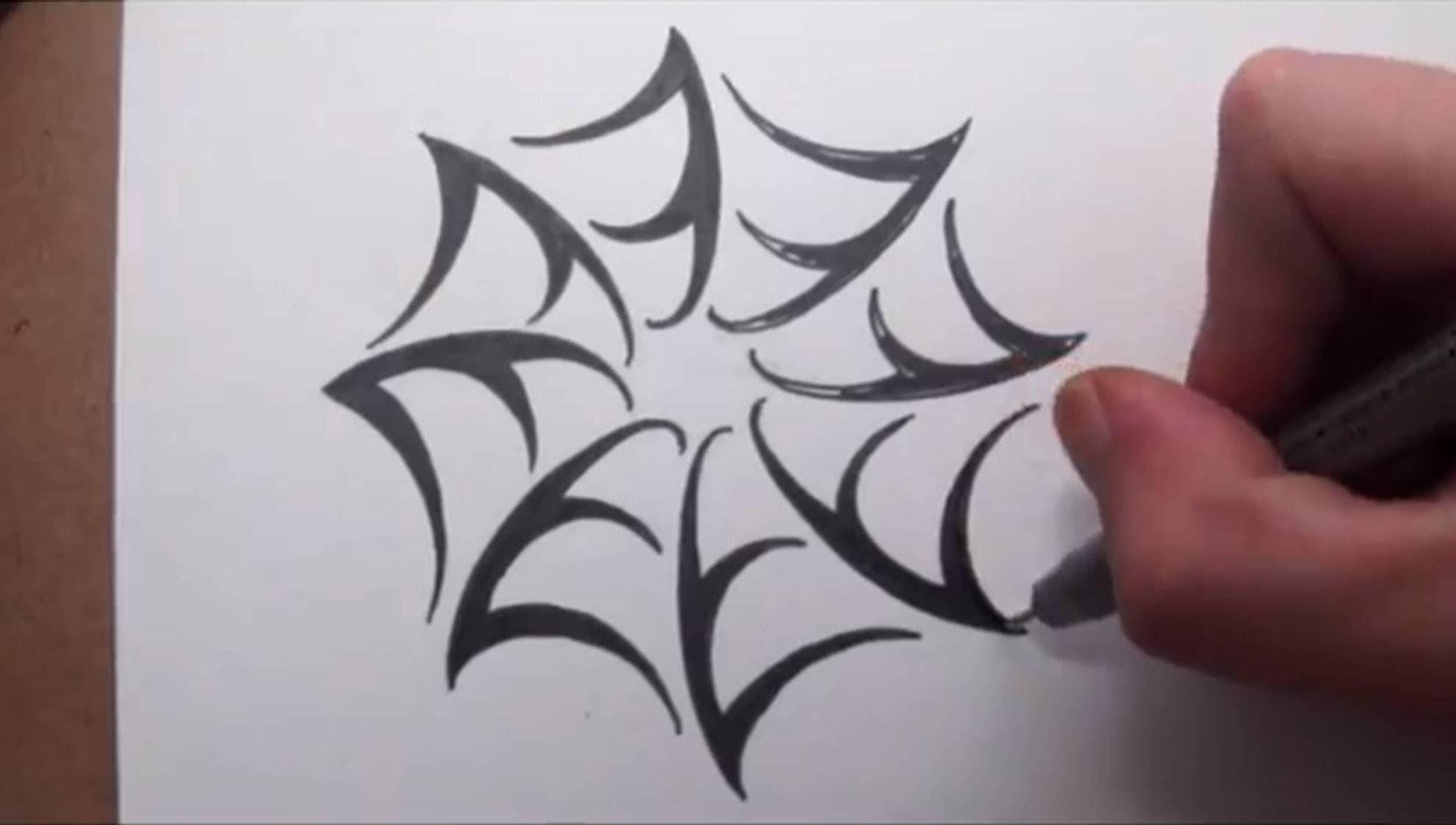 Tribal Spider Web Tattoos