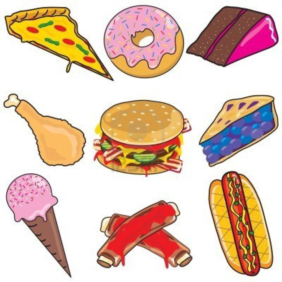 Unhealthy Food Clip Art