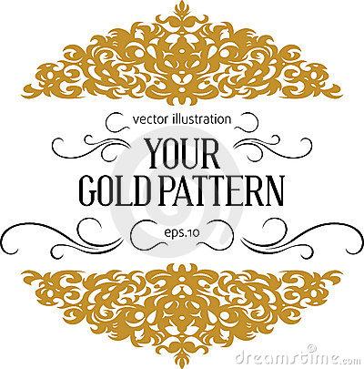 14 Gold Vintage Border Designs 8.5X11 Images