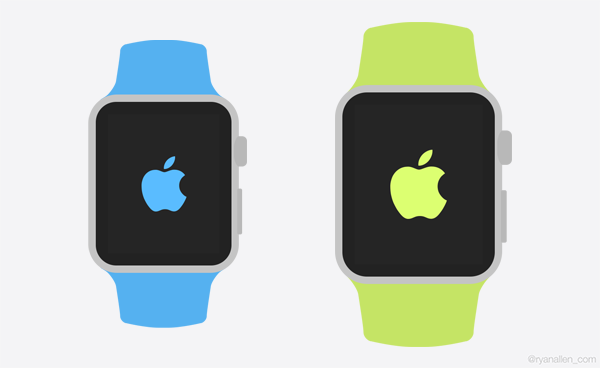 Watch Apple Icon Template