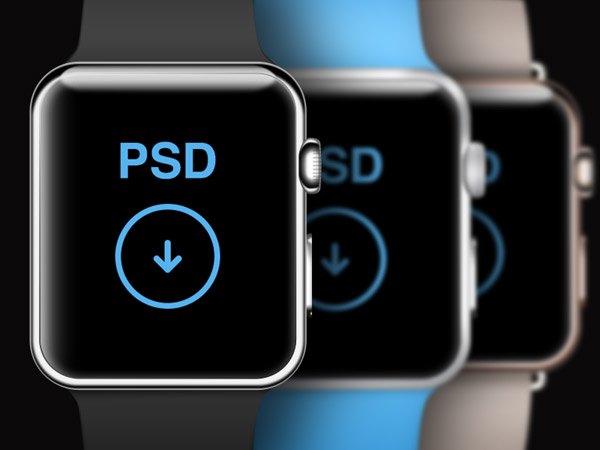 11 Apple Watch PSD Template Images